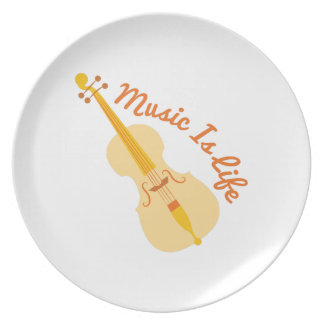Music Is Life Dinner Plate