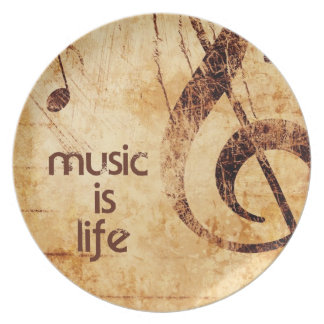 Music is Life Plates