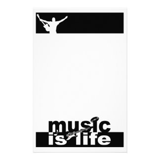 Music is Life stationary, customize Stationery Paper