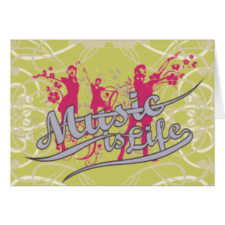 Music is Life T-shirts and Gifts Cards