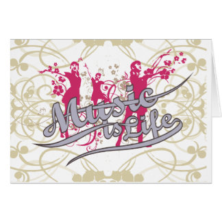 Music is Life T-shirts and Gifts Greeting Card