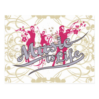 Music is Life T-shirts and Gifts Post Cards