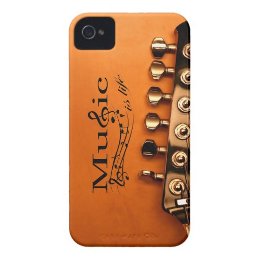 Music is Life with Guitar Machine Head - Bold Case Blackberry Bold Cases