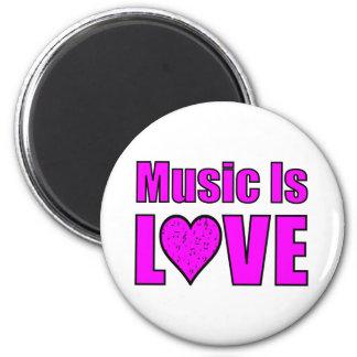 Music Is Love 6 Cm Round Magnet
