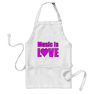 Music Is Love Adult Apron