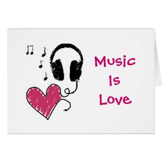 Music Is Love, Love Is Music Card