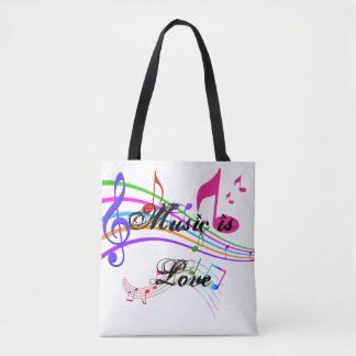 Music Is Love Tote Bag