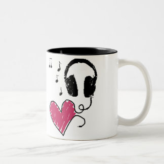 Music Is Love Two-Tone Coffee Mug