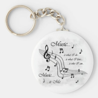 Music Is Me Keychain