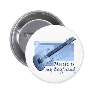 Music is my Boyfriend T-shirts and Gifts. 6 Cm Round Badge