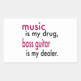 Music Is My Drug Bass Guitar Is My Dealer Sticker