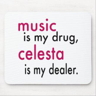 Music Is My Drug celesta Is My Dealer Mousepads