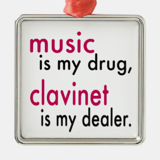 Music Is My Drug Clavinet Is My Dealer Christmas Tree Ornament