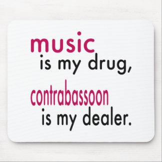 Music Is My Drug Contrabassoon Is My Dealer Mousepad