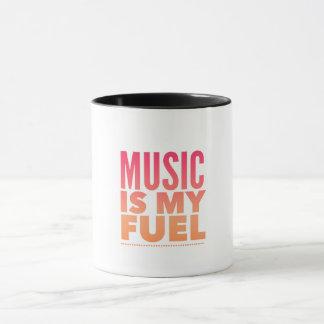 Music is my fuel. mug