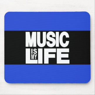 Music is My Life Blue Mouse Pad