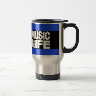Music is My Life Blue Coffee Mug