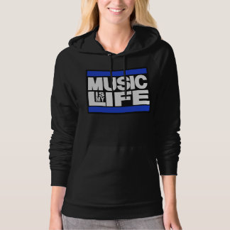 Music is My Life Blue Pullover