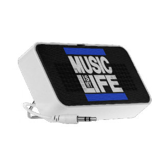 Music is My Life Blue iPhone Speakers
