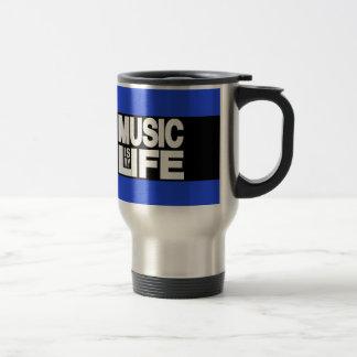 Music is My Life Blue Travel Mug