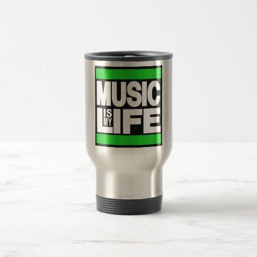Music is My Life Green Mug