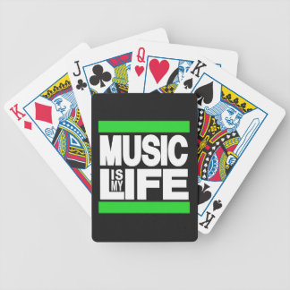 Music is My Life Green Poker Deck