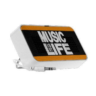 Music is My Life Orange Portable Speakers