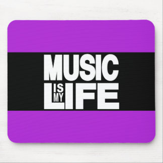 Music is My Life Purple Mouse Pad