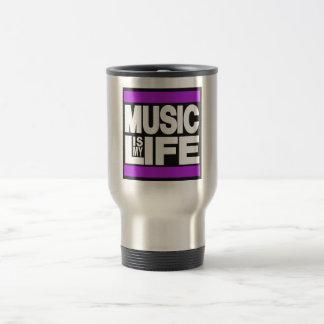 Music is My Life Purple Mug