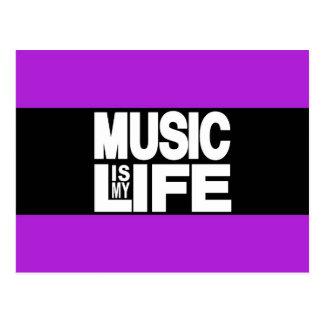 Music is My Life Purple Postcard