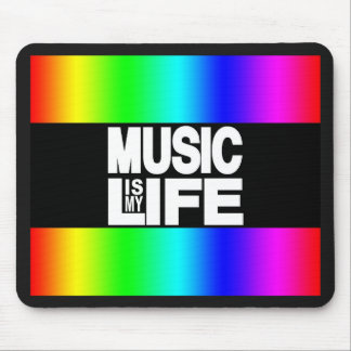 Music is My Life Rainbow Mouse Pad