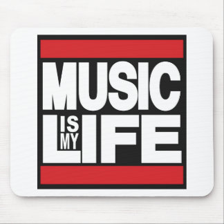 Music is my life Red Mouse Pad