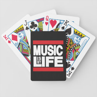Music is my life Red Poker Deck