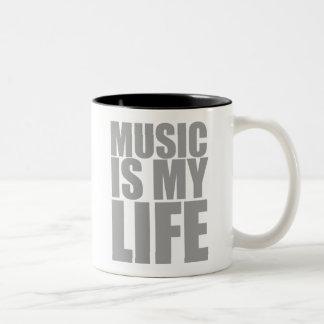 Music Is My Life Two-Tone Coffee Mug