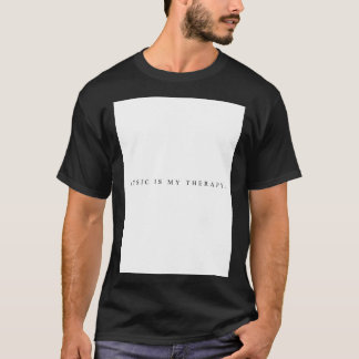 Music is my therapy t-shirt (Black)