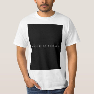 Music is my therapy t-shirt (White)
