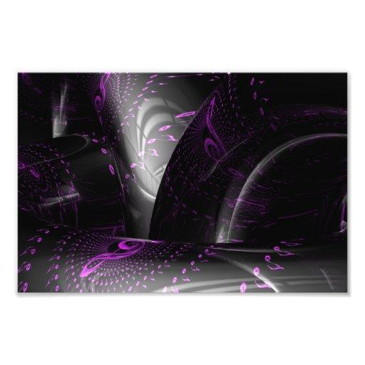 Music is purple geometry (Spirals on tori) Print Art Photo