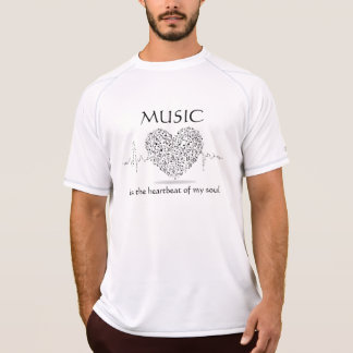 Music is the Heartbeat to My Soul Men's Tshirt