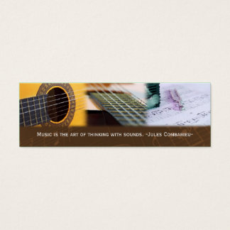 Music is thinking with sound Guitar Bookmark Mini Business Card