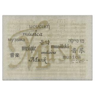Music Is Universal Language Cutting Boards