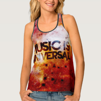 Music is universal space celestial tank top