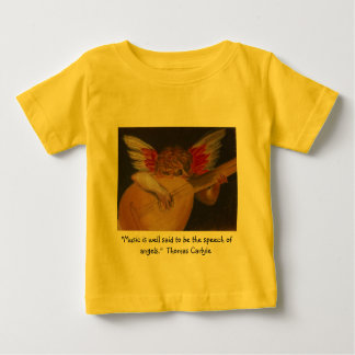 Music is well said to be the speech of angels t-shirts