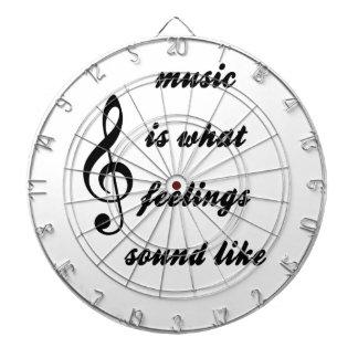 Music Is What Feelings Sound Like Dartboard