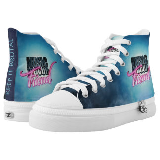 Music Is Your Friend Logo High Top Sneakers