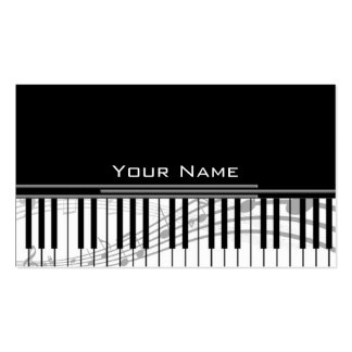 music keys business cards