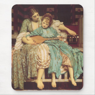 Music Lesson by Leighton, Vintage Victorian Art Mouse Pads