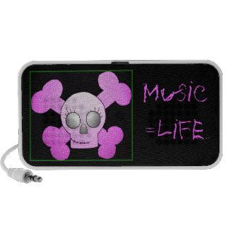 Music = life notebook speaker