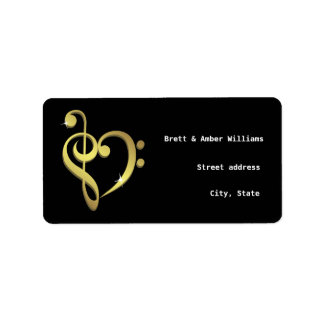 Music love address labels