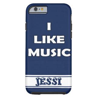 MUSIC LOVE BLUE TOUGH iPhone 6 CASE