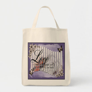 Music & Love - Organic Grocery Tote
